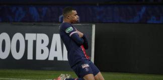 PSG v Lille, Mbappe celebrates goal against Lille