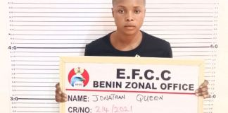 Queen Jonathan arrested by EFCC for internet fraud