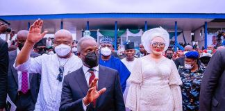 Vice President Yemi Osinbajo SAN attends as the Special Guest of Honor the 1st Year in Office Anniversary Interdenominational Church Service of Governor Hope Uzodinma in Imo State