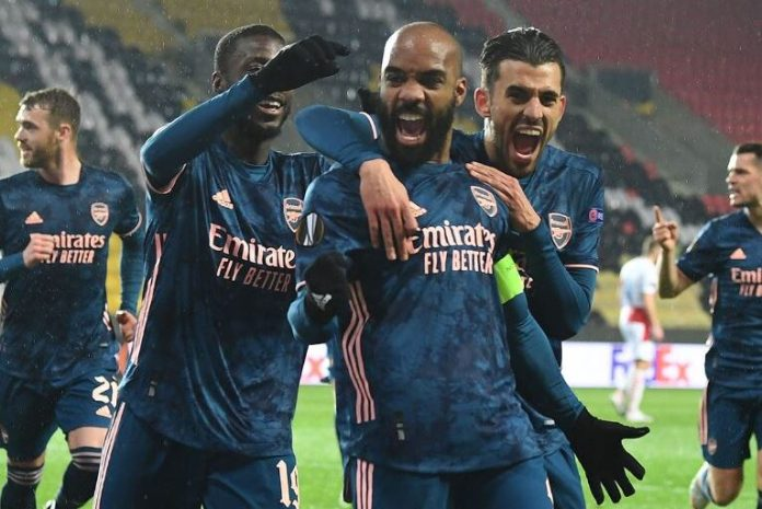 Arsenal thrash Slavia Prague to reach Europa semis