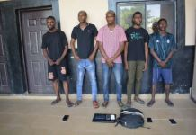 EFCC has arrested five persons for cybercrimes in Kano