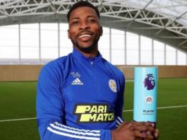 Iheanacho wins EPL player of the month award