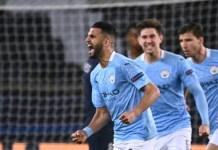 Mahrez celebrates as Man City stage comeback against PSG