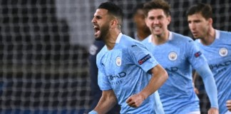 Mahrez celebrates as Man City stage comeback against PSG
