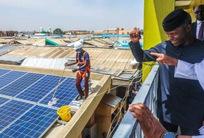 Osinbajo flags of Solar programme in Jigawa