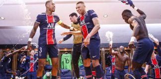 PSG celebrate victory over Bayern to reach Champions league Semi-finals