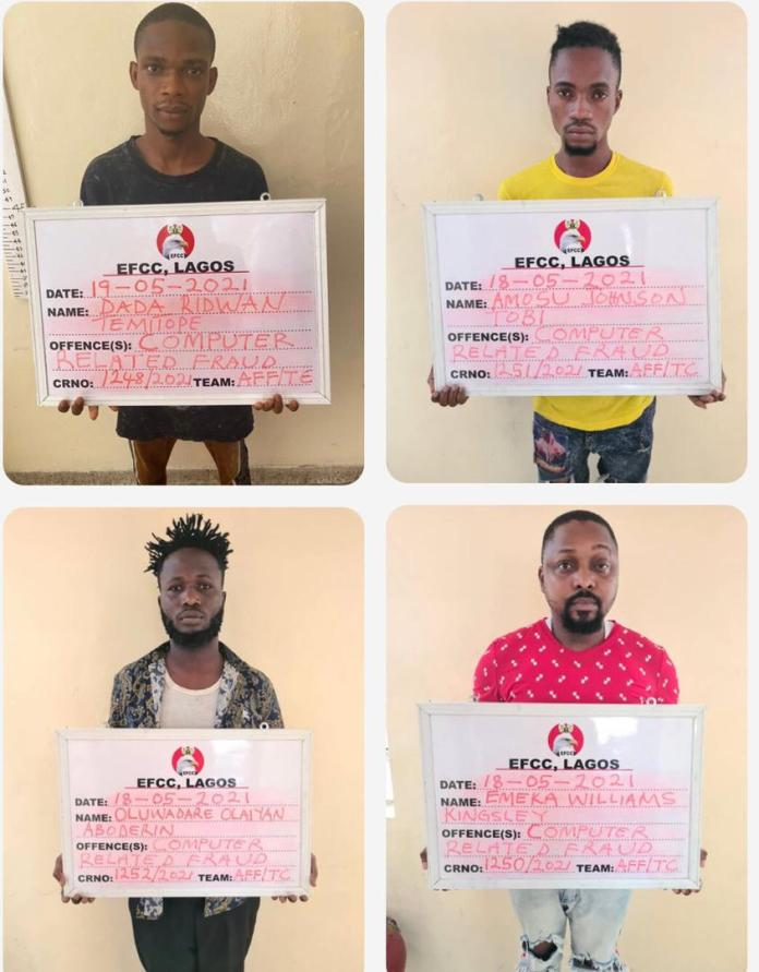 EFCC has Emeka Williams Kingsley, a club owner and 14 others for internet fraud
