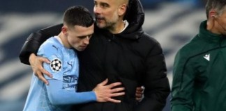 Phil Foden and Pep Guardiola