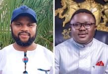 Phil Obin, an aide of Vice President Yemi Osinbajo welcomes Governor Ayade to the APC
