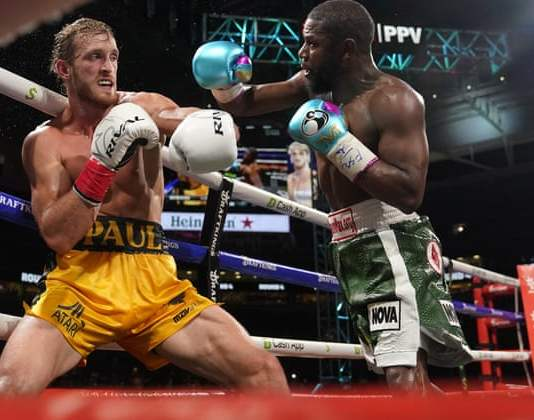 Floyd Mayweather landed 43 punches as against Paul Logan's 28