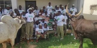 Buhari donates N1m, 2 cows, 20 bags of rice to NYSC members in Daura