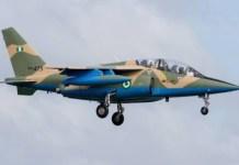 Nigeria Military Alpha jet