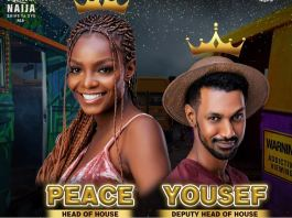 Peace is BBNaija Head of House for the first week