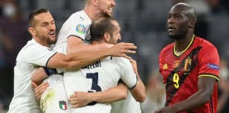 Romelu Lukaku leaves the pitch in disappointment as Italy knock out Belgium from Euro 2020