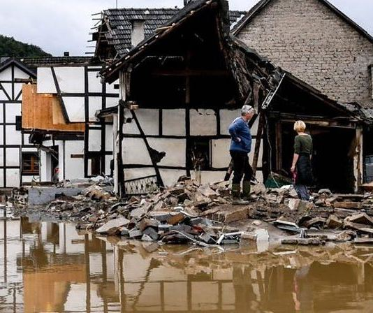 The deadly floods have left homes and cars destroyed in Germany