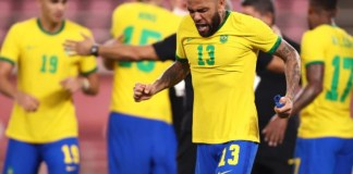 Dani Alves scored the opening penalty as Brazil reached the Tokyo Olympics final