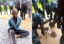 Likita Abubakar was arrested with 320 bullets and 53 magazines on his way to Jos, Plateau state