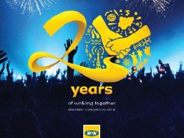 MTN at 20 logo