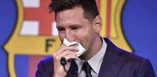 Messi Breaks down in tears as he confirms Barca exit PSG