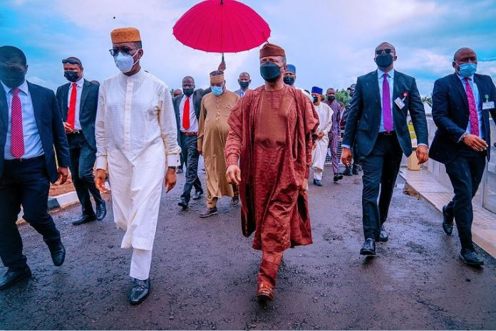 Vice President Yemi Osinbajo SAN attends the funeral ceremony of the father of the Delta State Governor, Dr. Ifeanyi Okowa Late Chief (Sir) Arthur Uzoma Okorie Okowa (JP). The Okpara-Uku of Owa-Alero, in Delta State. 21st August, 2021