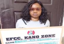 Ebonine Rita Uzoamaka was arraigned by the EFCC for N5.6m fraud in Kano