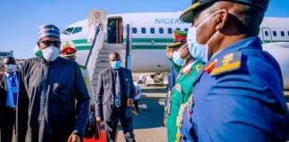 President Muhammadu Buhari arrives New York for UN General Assembly