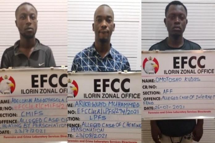 Adelokun Adedoyinsola Olamide, Omotosho Kudus and Arikewuyo Muhammed were jailed for fraud in Ilorin