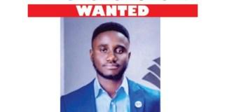 Adewale Daniel Jayeoba has been declared wanted by EFCC