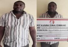 Ejike Chinedu Euneoha wa arrested for fraud in Kaduna