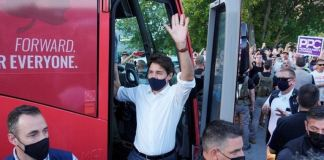 Justin Trudeau has been campaigning ahead of the 20 September vote