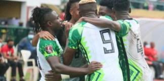 Nigeria's Super Eagles celebrate victory over Cape Verde
