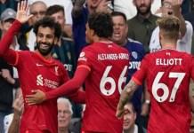 Salah celebrates 100th premier league goal