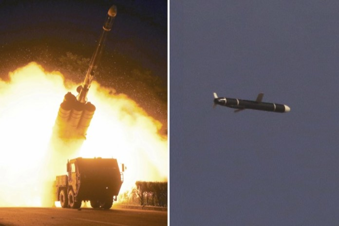 The Academy of National Defense Science conducts long-range cruise missile tests in North Korea