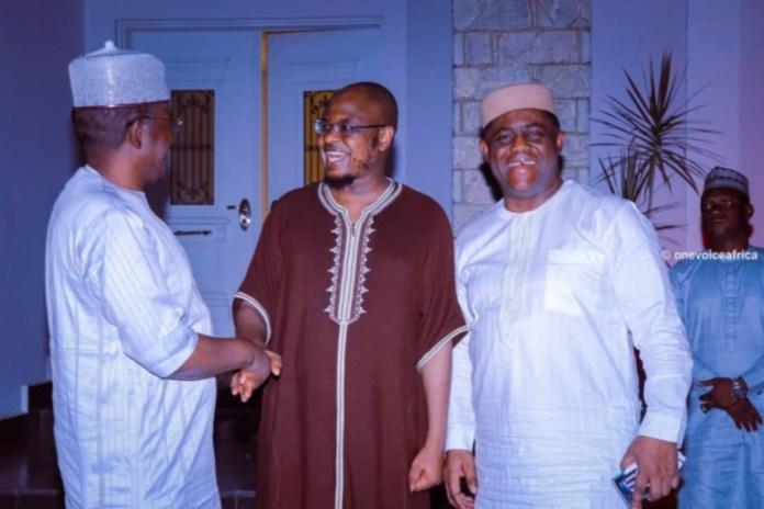 Femi Fani-Kayode and Bello Matawalle at Dr Isa Ali Pantami's residence