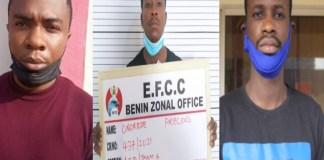 Adeniyi Rufus Oluwafemi, Onoriode Precious and William Omorebokhae were jailed for cybercrime inBenin