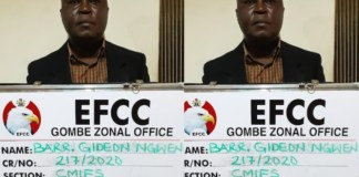 Barrister Gideon Ngwen was arraigned by EFCC for diverting his clients' funds