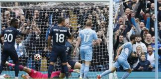 Bernardo Silva put Manchester City ahead with his second goal of the season - his first was the winner against Leicester last month