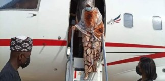 Ganduje's wife returning to Kano after EFCC interrogation