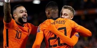 Memphis Depay scored twice and Netherlands progress