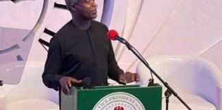 Prof Yemi Osinbajo at the Ekiti Investment and Economic Summit (Fountain Summit 2021)
