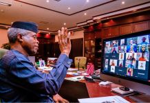 Vice President Yemi Osinbajo, SAN, interacts virtually with Mandela Washington Fellows from Nigeria. They discussed varying issues of concern to young Nigerians. 20th Oct, 2021