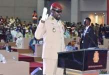 41 year old coup leader, Col Mamady Doumbouya has been sworn in as Guinea's interim president