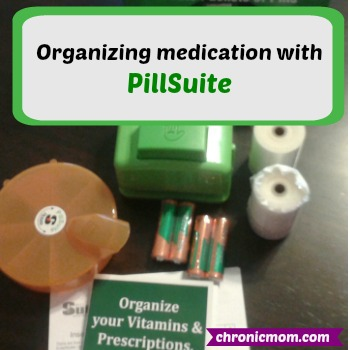 organizing medication with PillSuite