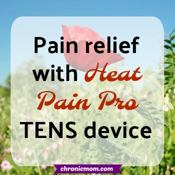 pain relief with heat pain pro tens device