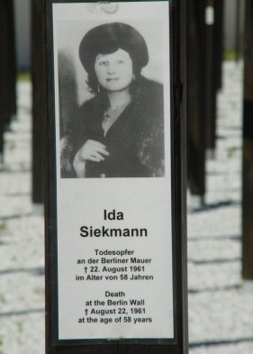 Image result for 1961 –Ida Siekmanndies attempting to cross the Berlin Wall