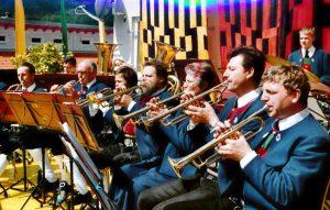 Trompeten, v.r.: Christian Thaler, Willi Auer, Veronika Gapp, Hermann Liebentritt, Simon Liebentritt