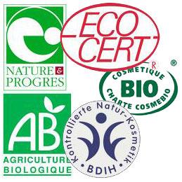 labels bio en cosmetiques