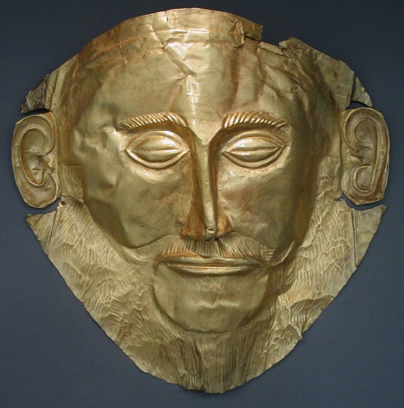 «MaskeAgamemnon» par DieBuche de de.wikipedia.org. Sous licence CC BY-SA 3.0 via Wikimedia Commons - https://commons.wikimedia.org/wiki/File:MaskeAgamemnon.JPG#/media/File:MaskeAgamemnon.JPG