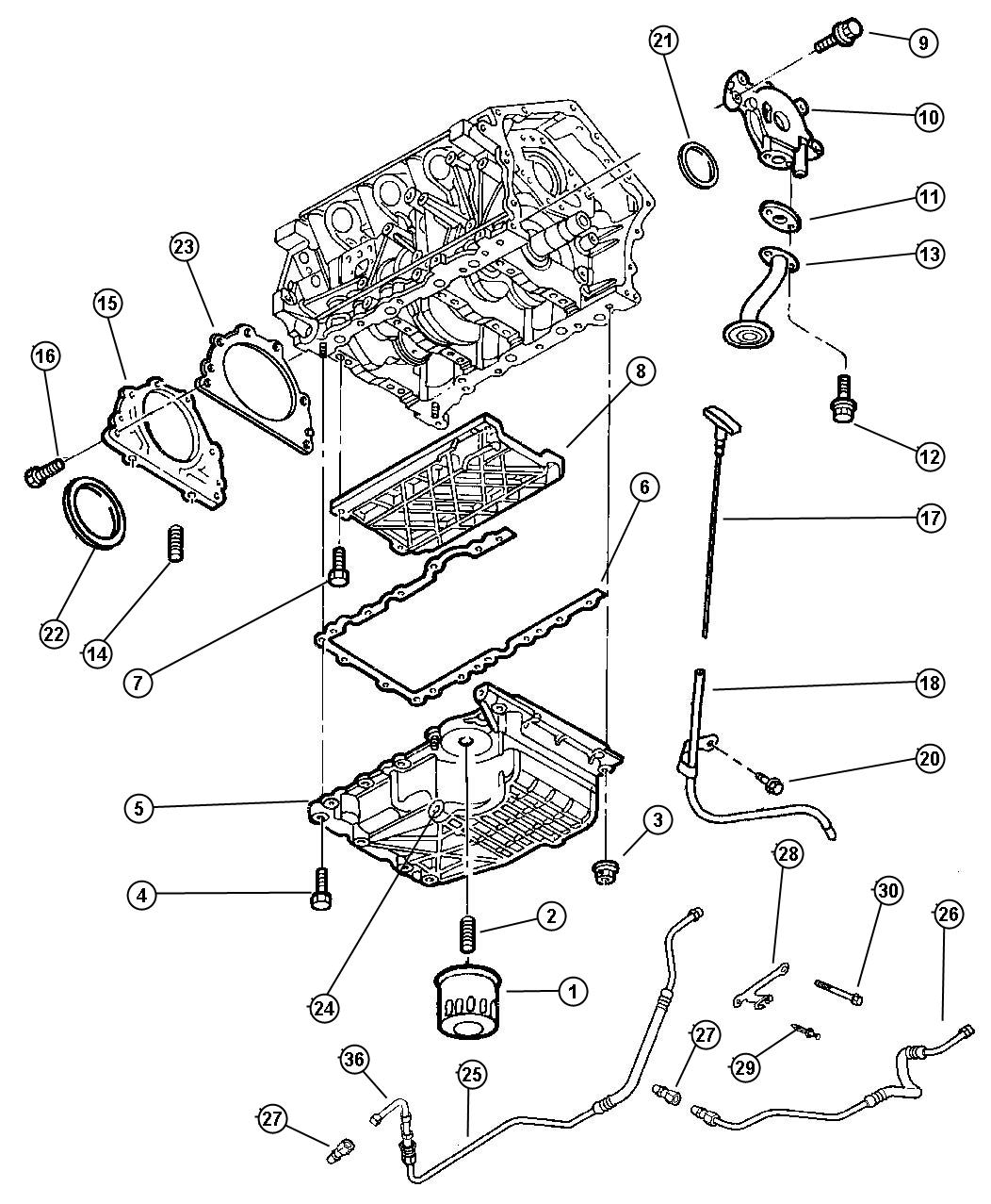 Chrysler 300 Spring Oil Pressure Relief Valve Oil Pump