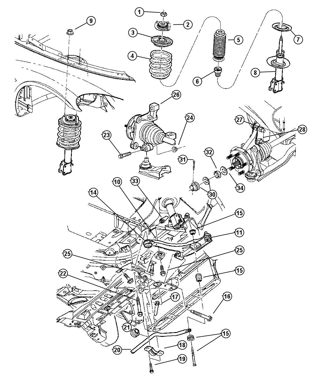 2002 Pt Cruiser Parts Diagram